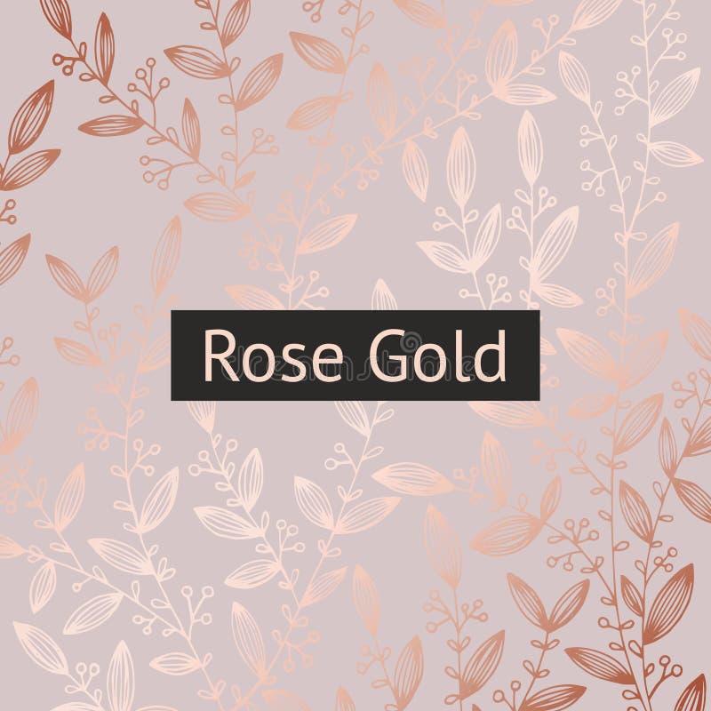Oro di Rosa Fondo di lusso floreale da vendere, progettazione royalty illustrazione gratis