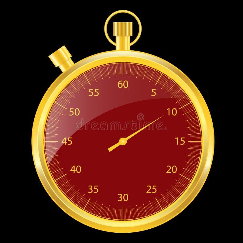 Oro e colore rosso del cronometro royalty illustrazione gratis