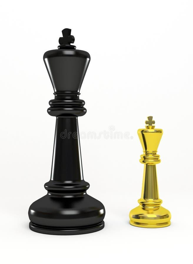 Oro e re nero di scacchi illustrazione di stock