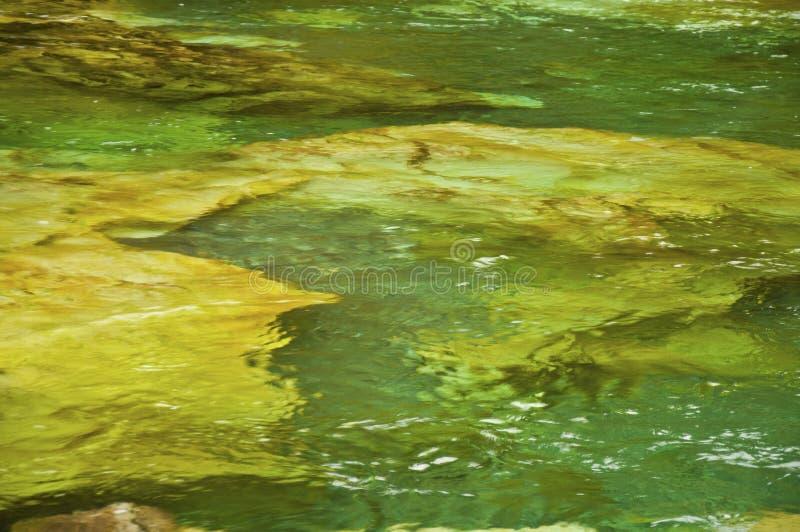 Oro e struttura verde delle rocce e del paesaggio subacqueo fotografie stock libere da diritti