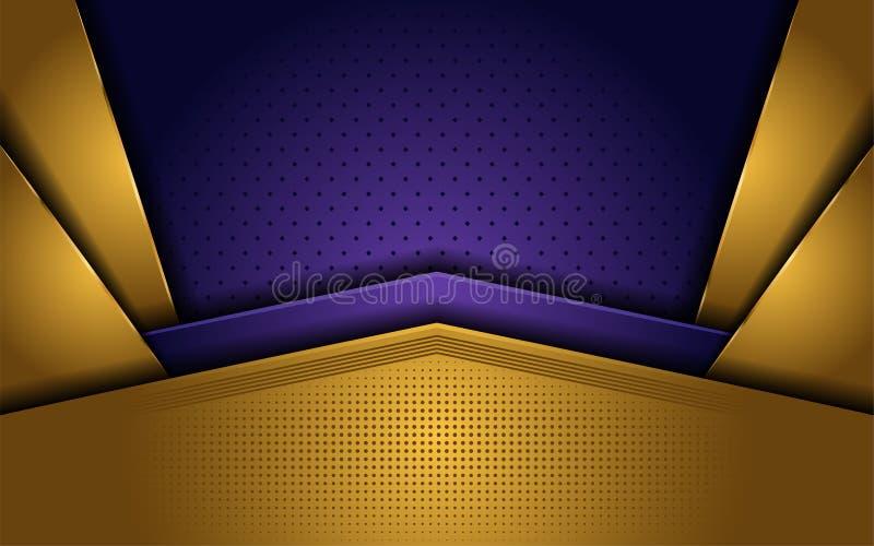 Oro elegante e fondo di lusso porpora royalty illustrazione gratis