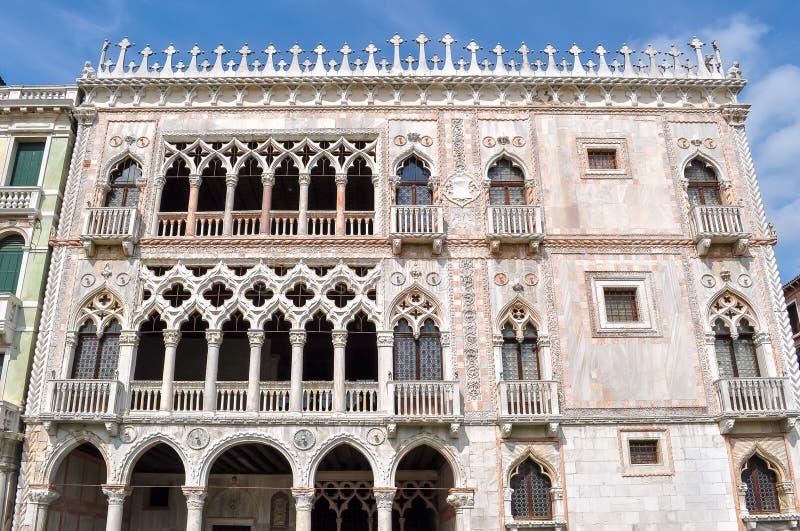 `-Oro för Ca D slott, Venedig, Italien royaltyfri fotografi
