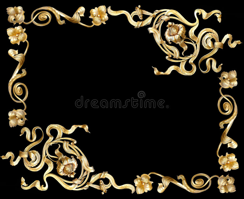 Oro frame2 fotografie stock