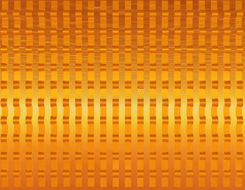Oro fundido óptico stock de ilustración