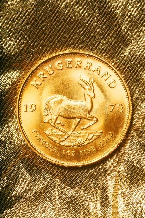 Oro Krugerrand 1978 fotografía de archivo