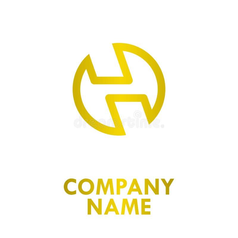 Oro Logo Design del círculo libre illustration