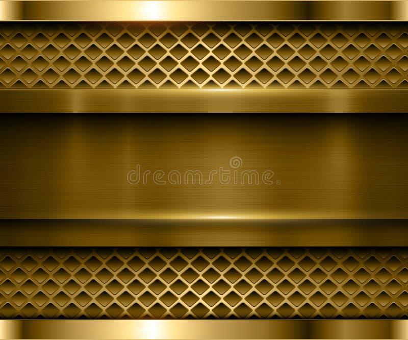 Oro metallico del fondo illustrazione vettoriale