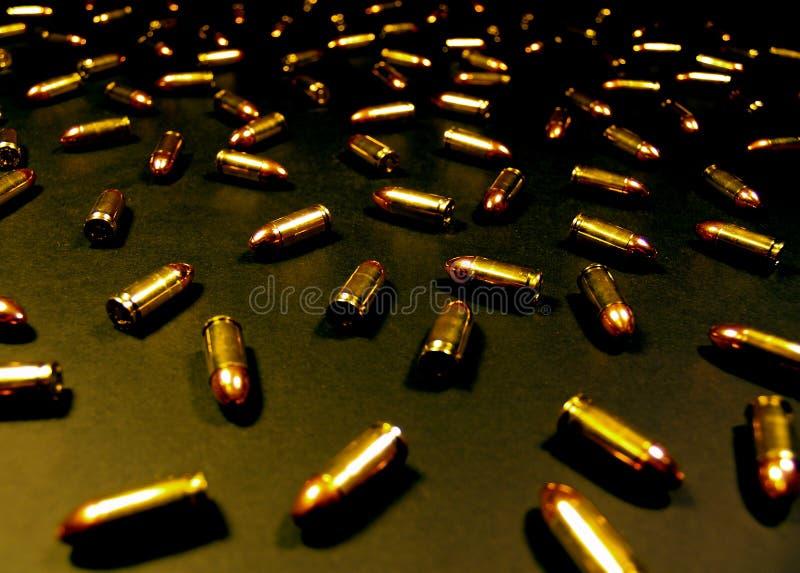 Oro N 9mm's nero immagini stock libere da diritti
