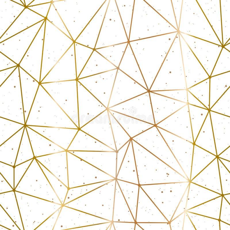 Oro Poligonale Geometrico E Vettore Bianco Del Fondo