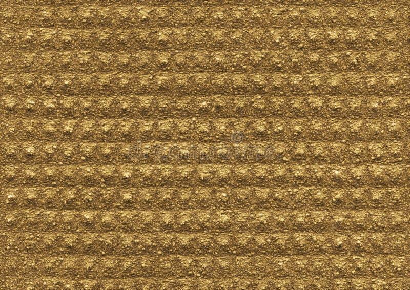 Oro, struttura ocracea del materiale poroso di sollievo fotografie stock libere da diritti