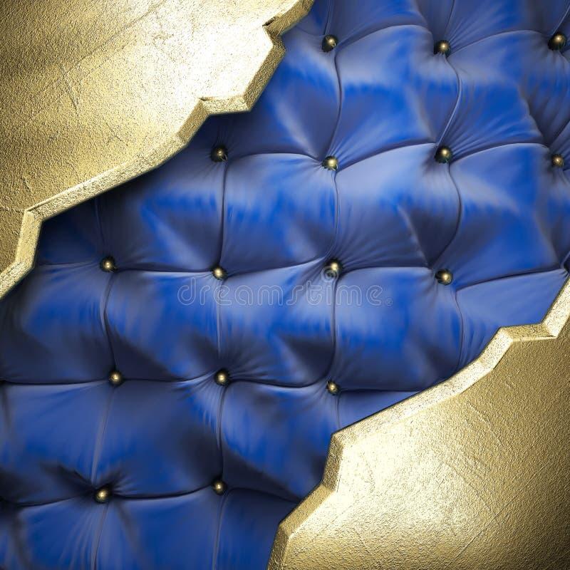 Oro sul fondo del tessuto illustrazione vettoriale