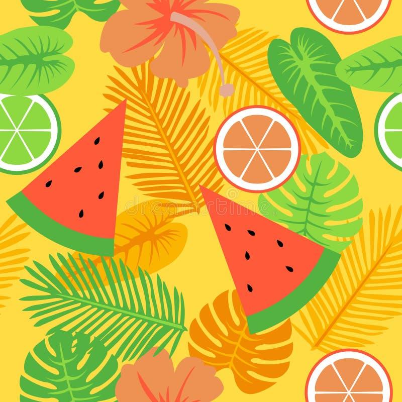 Oro tropical y modelo amarillo del verano libre illustration