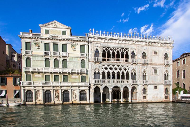 ` Oro, Venecia del ` d del palacio Ca fotografía de archivo