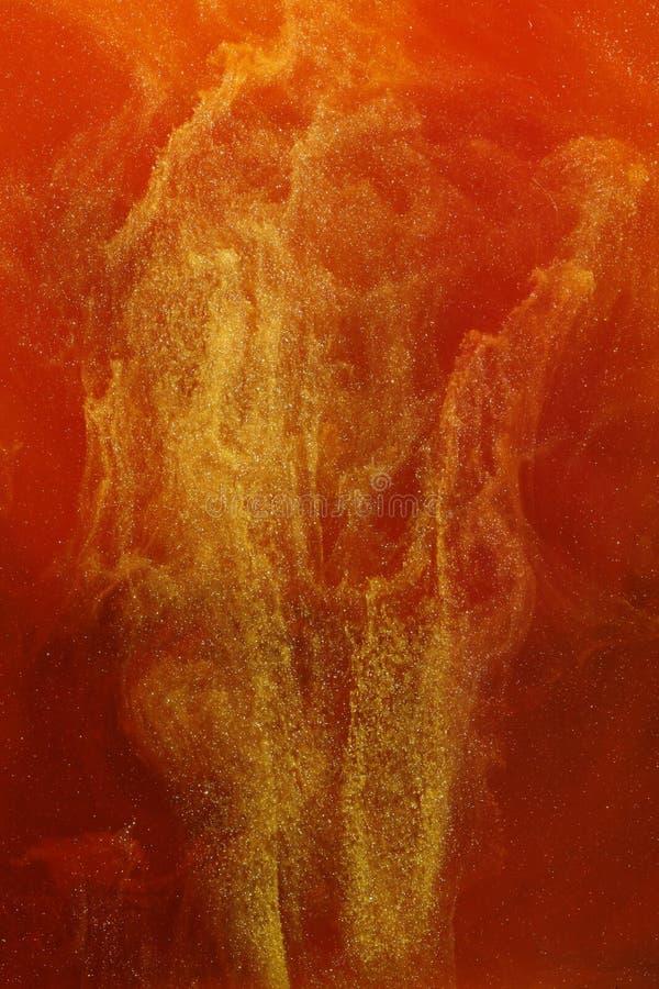 Oro y colores abstractos rojos fotos de archivo