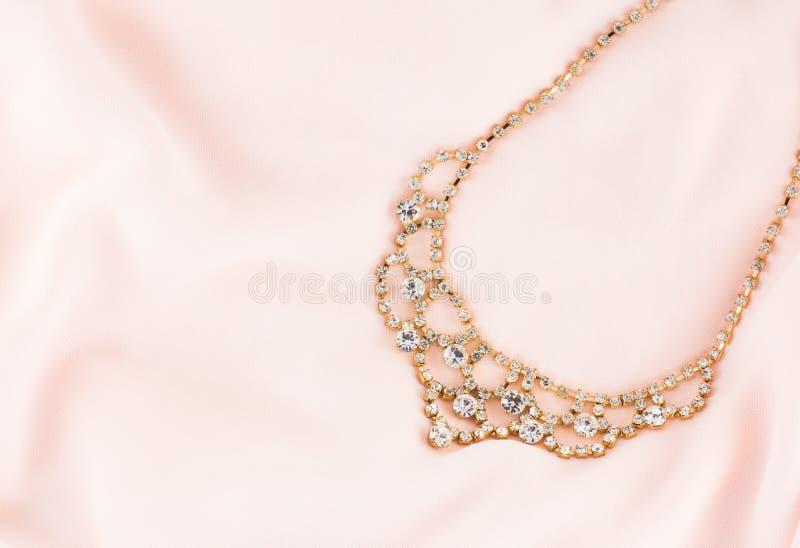 Oro y Diamond Necklace imagen de archivo