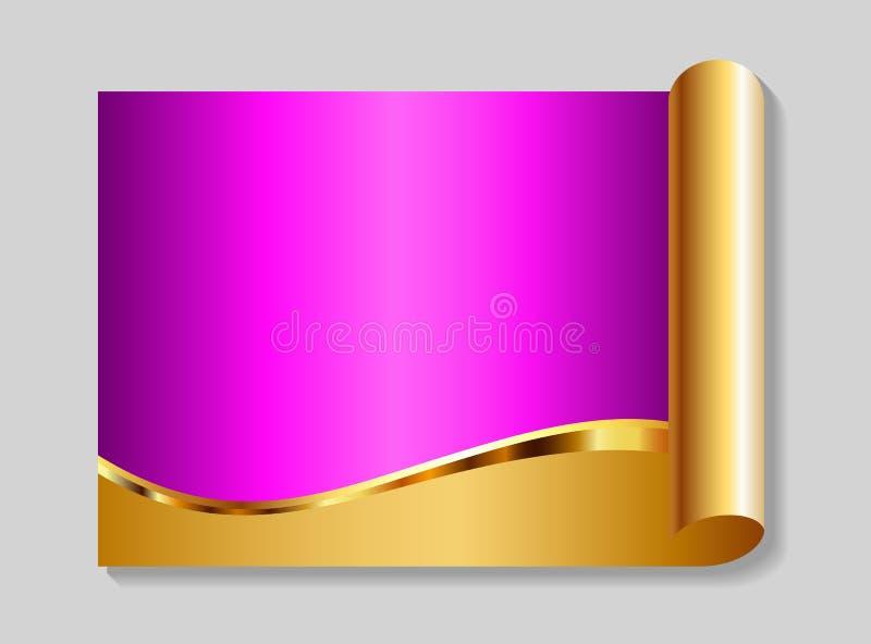 Oro y fondo abstracto del color de rosa stock de ilustración