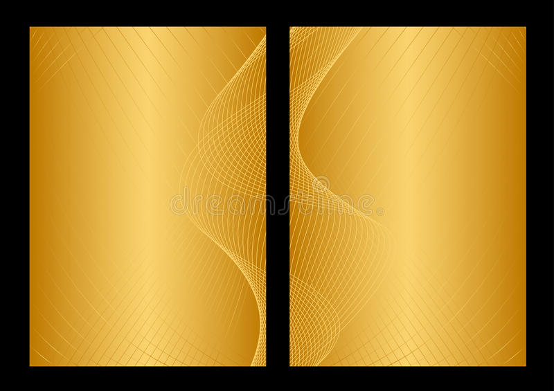 Oro y fondo, frente y parte posterior amarillos libre illustration