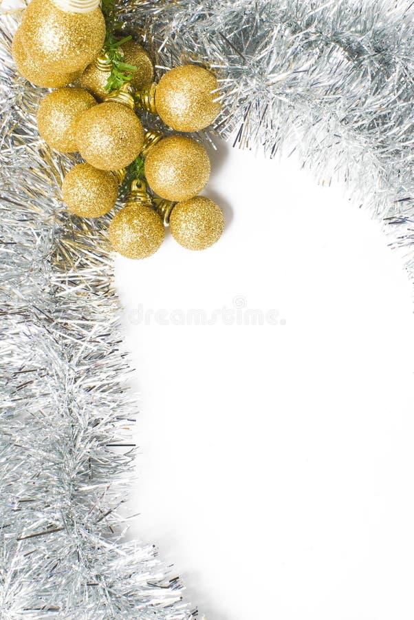 Oro y plata del fondo de la Navidad, insertar el texto imagen de archivo libre de regalías