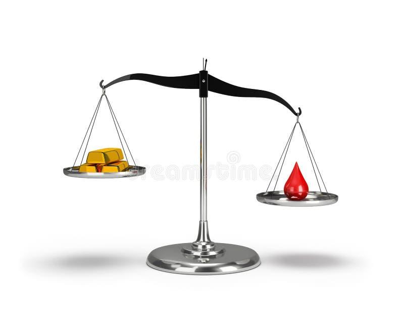 Oro y una gota de la sangre libre illustration