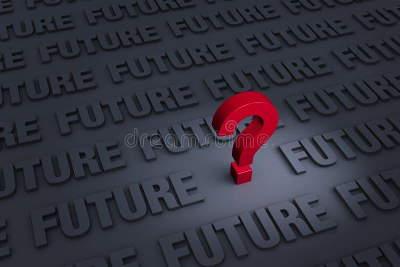 Oroat om framtiden stock illustrationer