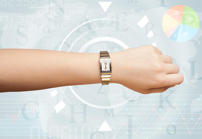 Orologi con tempo del mondo immagini stock libere da diritti