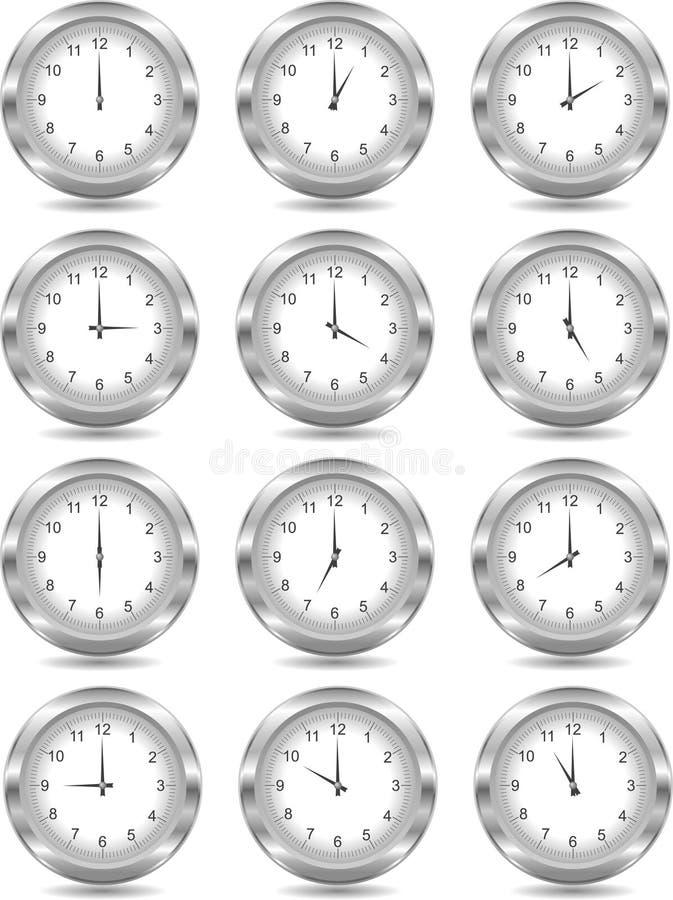 Orologi d'argento illustrazione vettoriale