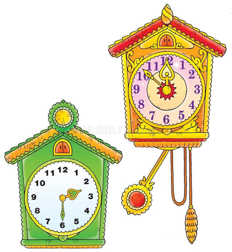 Orologi di parete royalty illustrazione gratis