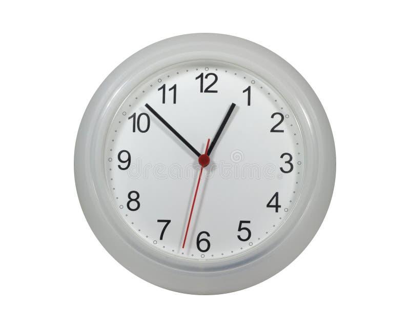 Orologi di parete isolati su bianco fotografie stock