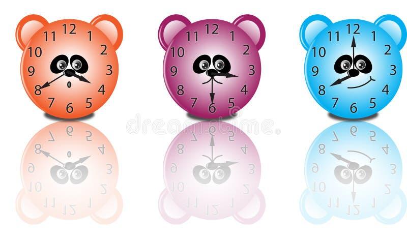 Orologi sorridenti illustrazione vettoriale