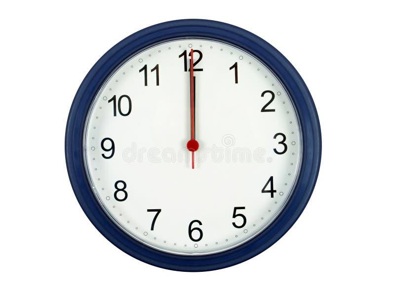 Orologio alla mezzanotte immagine stock libera da diritti