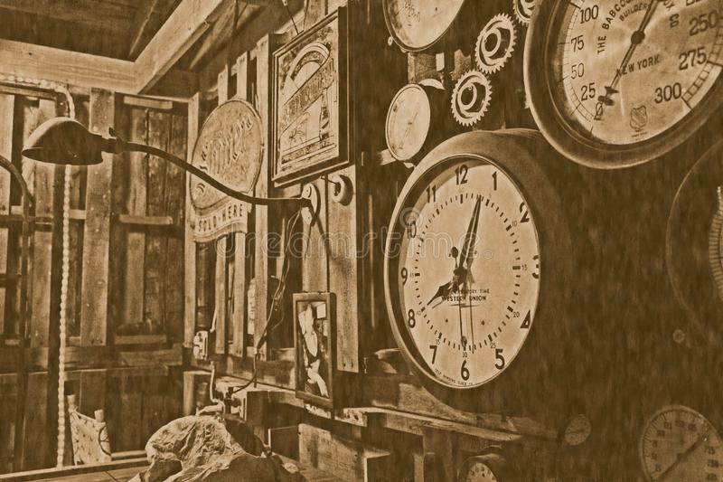 Orologio antico dell'annata immagine stock