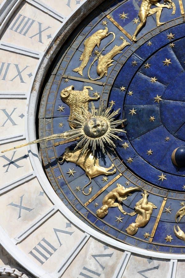 Orologio astrologico immagini stock libere da diritti