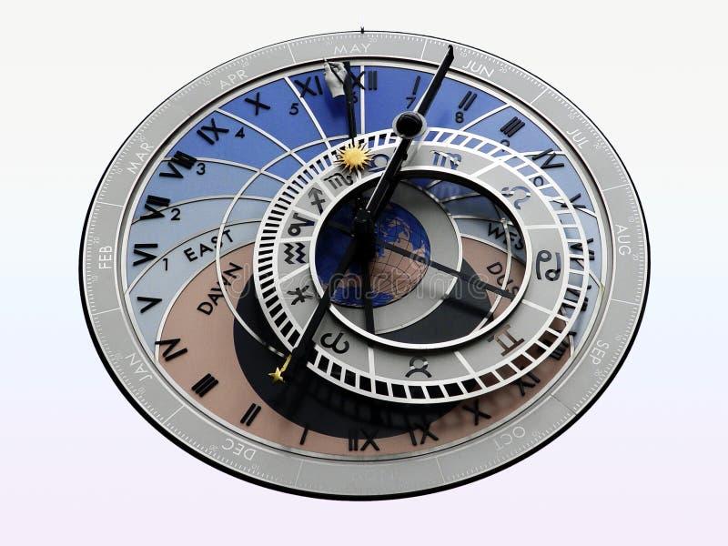 Orologio astrologico fotografia stock libera da diritti