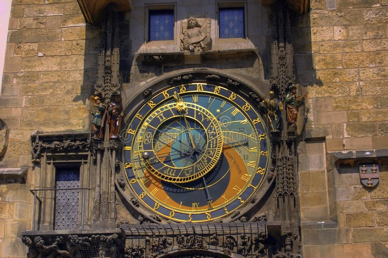 Orologio astronomico fotografie stock