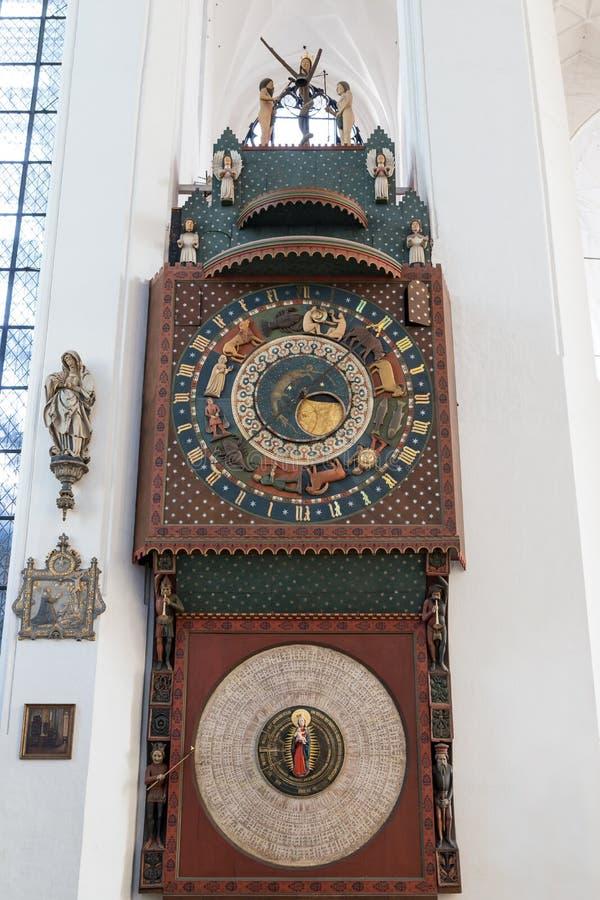 Orologio astronomico di Danzica a Danzica fotografia stock libera da diritti