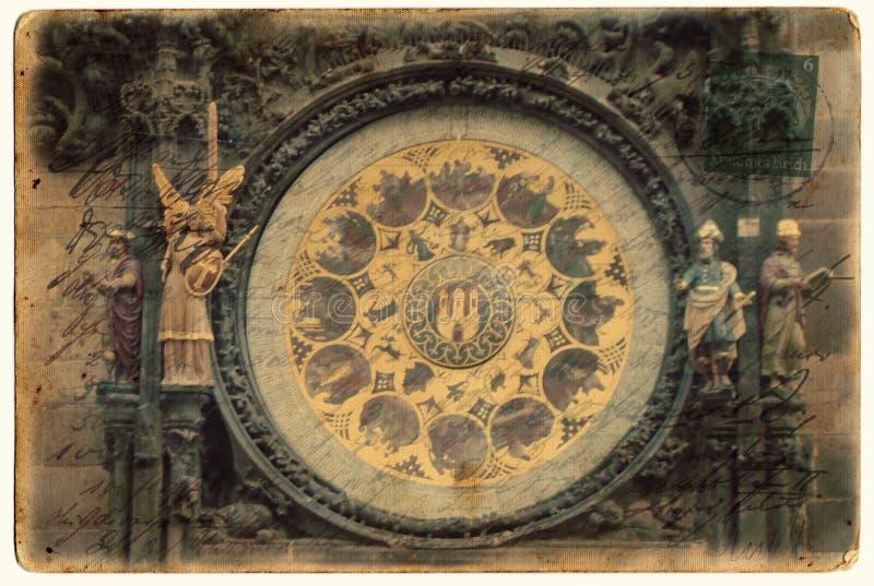 Orologio astronomico di Praga fotografia stock