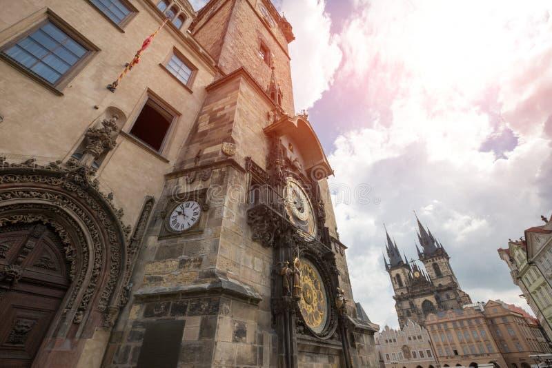 Orologio astronomico di Praga & x28; Orloj& x29; in Città Vecchia di Praga immagini stock libere da diritti