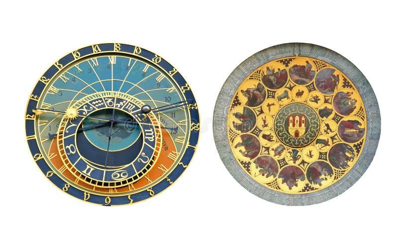 Orologio astronomico di Praga, vecchia piazza immagini stock libere da diritti