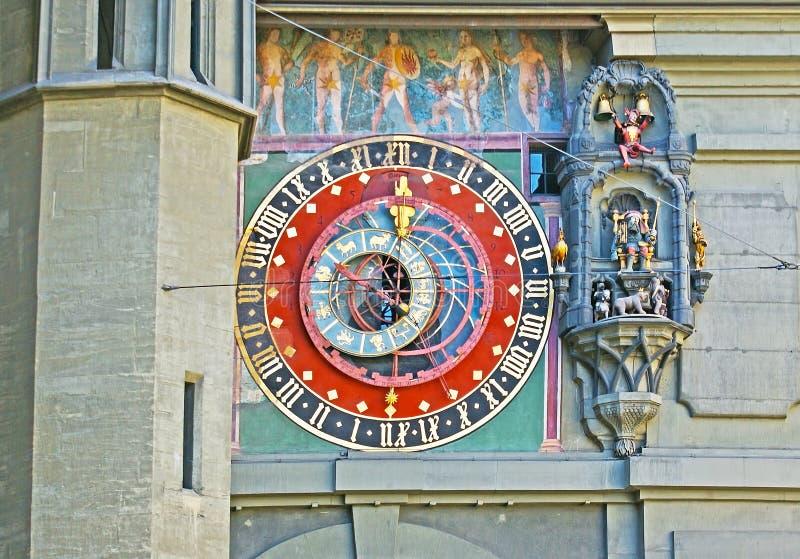 Orologio astronomico di Zytglogge immagini stock libere da diritti