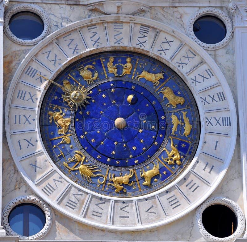 Orologio astronomico, Venezia, Italia   immagini stock