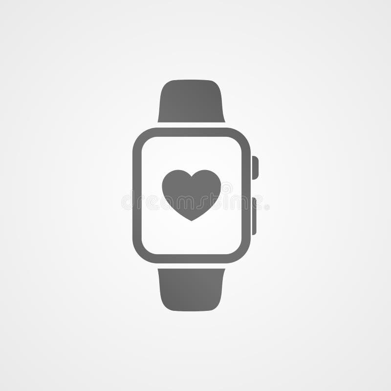 Orologio astuto con l'icona dell'applicazione di salute sullo schermo illustrazione di stock