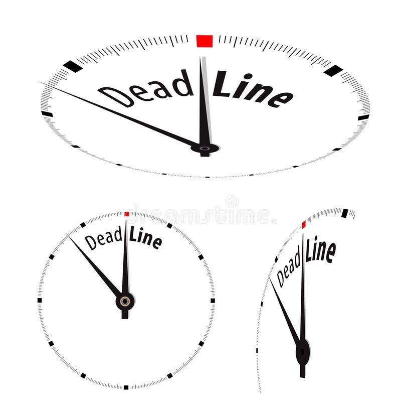 Orologio bianco illustrazione di stock