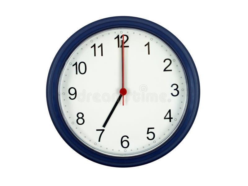 Orologio che mostra 7 in punto immagine stock libera da diritti
