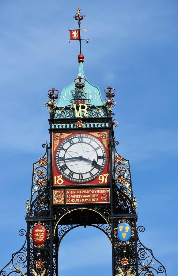 Orologio Chester di Eastgate fotografie stock libere da diritti