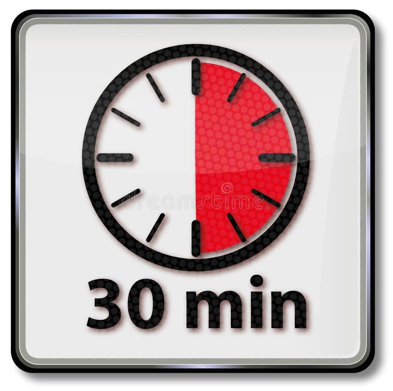 Orologio con 30 minuti illustrazione di stock