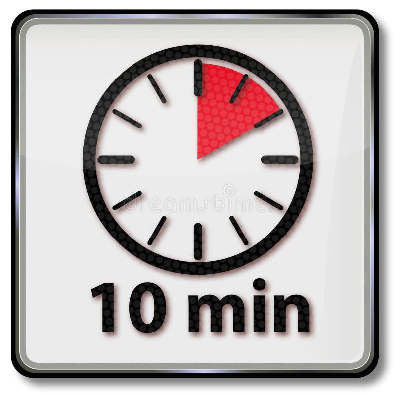 Orologio con 10 minuti royalty illustrazione gratis