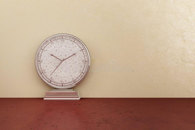 Orologio d'argento illustrazione di stock
