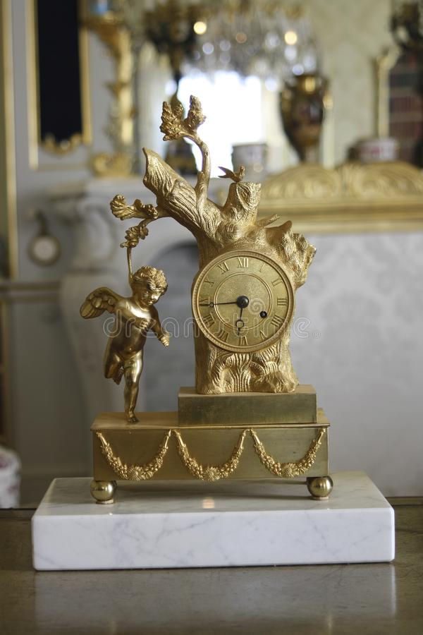 Orologio del cherubino fotografia stock libera da diritti
