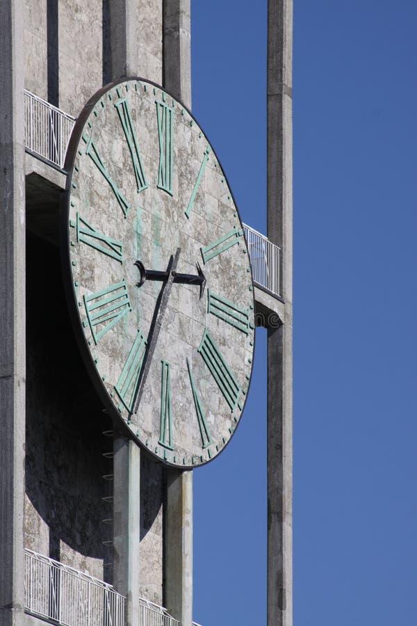 Orologio del città-corridoio di Aarhus fotografia stock