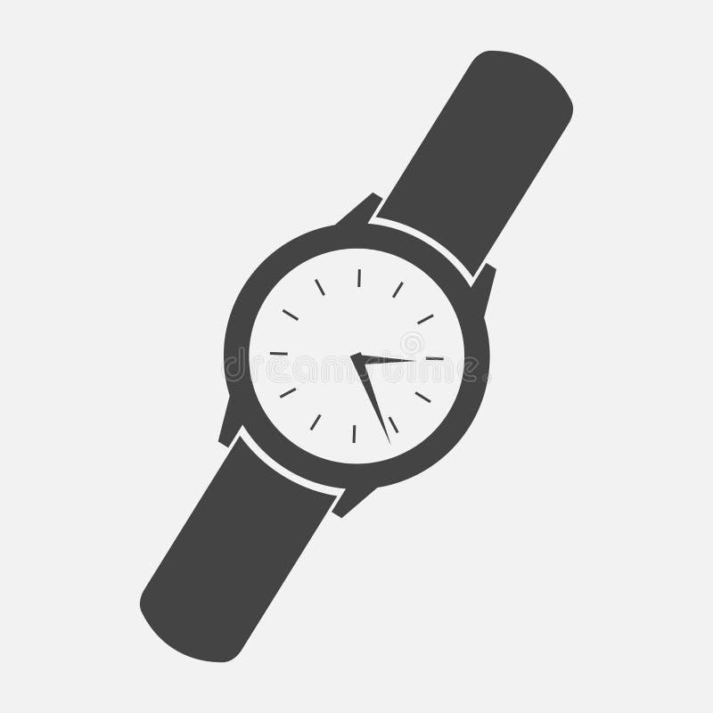 Orologio del classico del ` s degli uomini Icona dell'orologio Icona dell'orologio di vettore illustrazione vettoriale